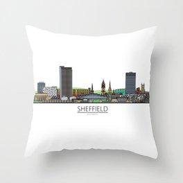 Sheffield Icons - Skyline Throw Pillow