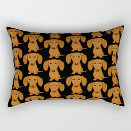 Shorthaired Dachshund Cartoon Dog Rectangular Pillow