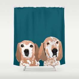 Molly and  Elwood Shower Curtain