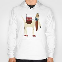 beagle Hoodies featuring bootleg beagle  by bri.buckley
