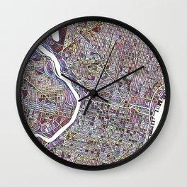 Philadelphia Color Variation 1 Wall Clock