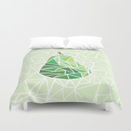 Pear geometry Duvet Cover