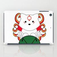 okami iPad Cases featuring Baby Okami by Murphis the Scurpix