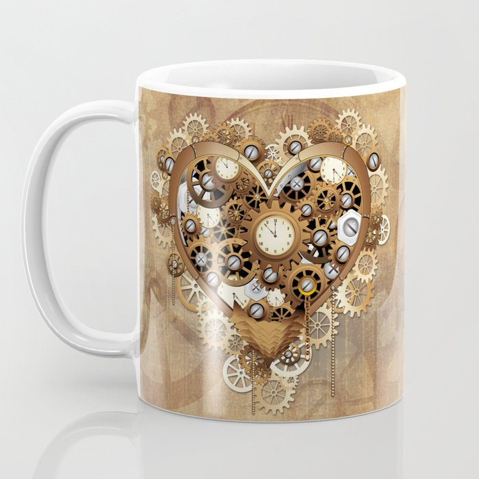 Steampunk Heart Love Coffee Mug