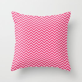 Pink Chevron Pattern Throw Pillow