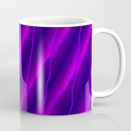 Slanting repetitive lines and rhombuses on luminous violet with intersection of glare. Coffee Mug