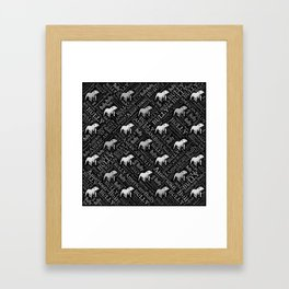 American Bully Word Art Framed Art Print