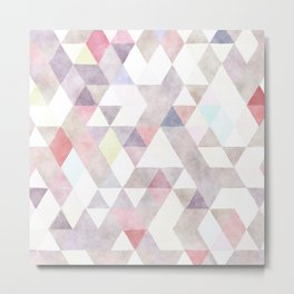 Modern abstract geometrical pastel tones watercolor Metal Print