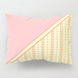 Yellow, Pink and Orange Striped Pattern Pillow Sham