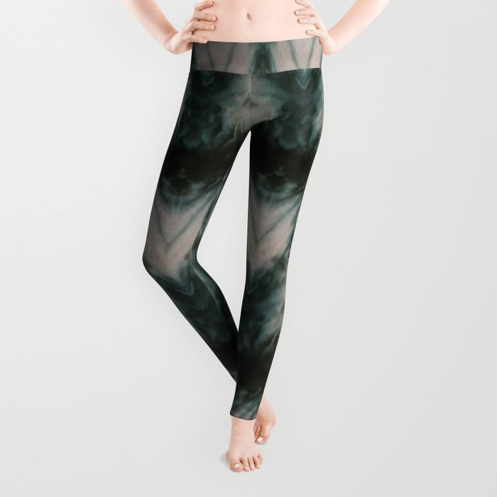 Shades of Green Shibori Leggings