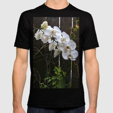 White Orchid Black Mens Fitted Tee MEDIUM