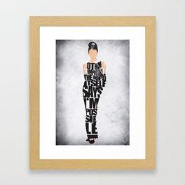Audrey Hepburn Typography Poster Framed Art Print