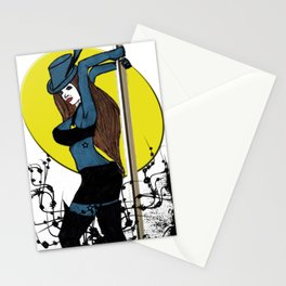 Lady: Teal Stationery Cards