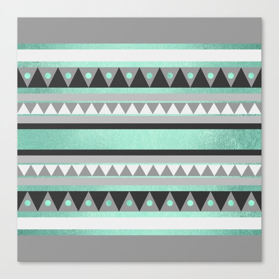 Turquoise Tribal Canvas Print