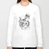 snail Long Sleeve T-shirts featuring snail by Dominic Damien