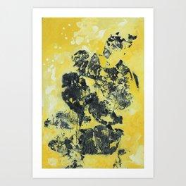 YellowishBlack Art Print