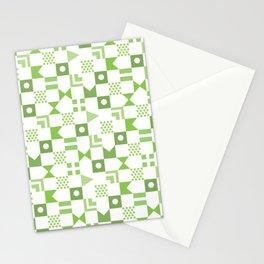 Pattern Pandemonium-Green Stationery Cards