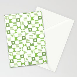 Pattern Pandemonium-Green Stationery Cards