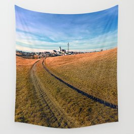 On the way to the village center | landscape photography Wall Tapestry