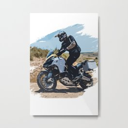 Off-road motorcyclist Metal Print