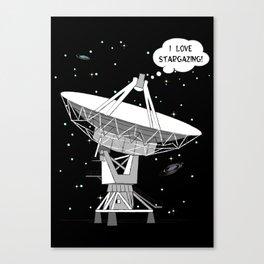 I love stargazing! Canvas Print