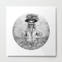 Undead Woman n Vintage Camera Metal Print