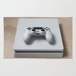 Sony PlayStation 4 Slim Glacier White game console Rug