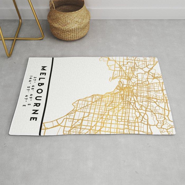 MELBOURNE AUSTRALIA CITY STREET MAP ART Rug