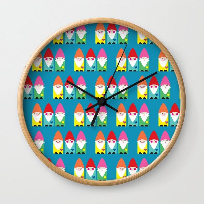 The BFF Gnomes II Wall Clock
