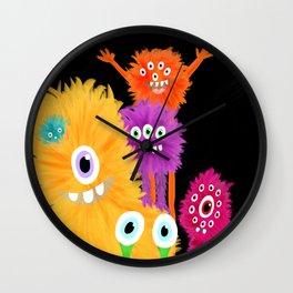 Hooray! Little Monsters Wall Clock
