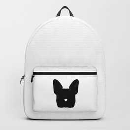 French-Bulldog Face Black Heart Nose Baby Frenchie Backpack