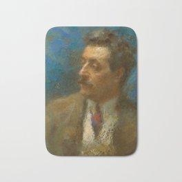 Giacomo Puccini (1858 – 1924) by Arturo Rietti in 1906 Bath Mat
