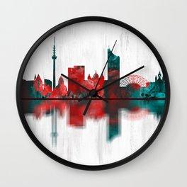 Leipzig Germany Skyline Wall Clock