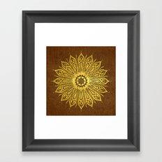 ozorahmi copper mandala Framed Art Print