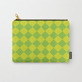 Diagonal Checkerboard IV Carry-All Pouch