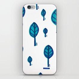 Standing Leaf Print Close Up iPhone Skin