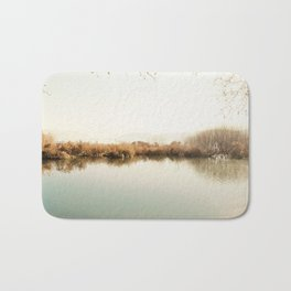 Autumn Lake Scene Bath Mat