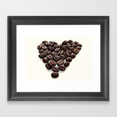 Coffee Hearts Framed Art Print