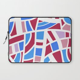 Broken Pink And Blue Abstract Laptop Sleeve