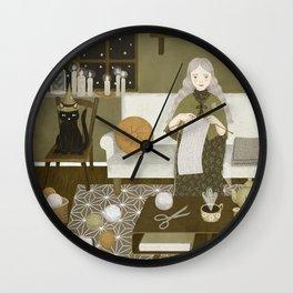 knitting magic Wall Clock