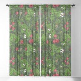 Wild strawberries Sheer Curtain