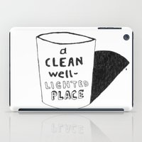 hemingway iPad Cases featuring Hemingway_A Clean Well-Lighted Place by StudioSotron