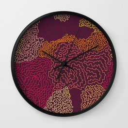 Labyrint Line Wall Clock