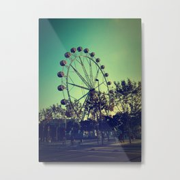 Barcelona Ferris Wheel Metal Print
