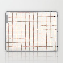 Imperfect Grid in Ivory and Clay Laptop & iPad Skin