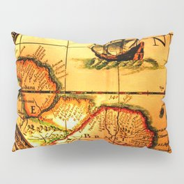 map sea Pillow Sham