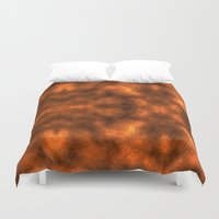 gold foil Duvet Covers featuring Gold Foil Texture 6 by Robin Curtiss