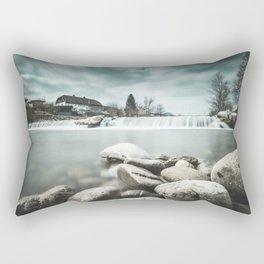 Waterfall on Sora river, Medvode Rectangular Pillow