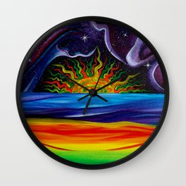 Rasta Sun Wall Clock