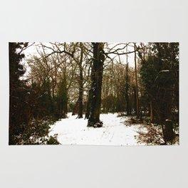 Snowy forest Rug
